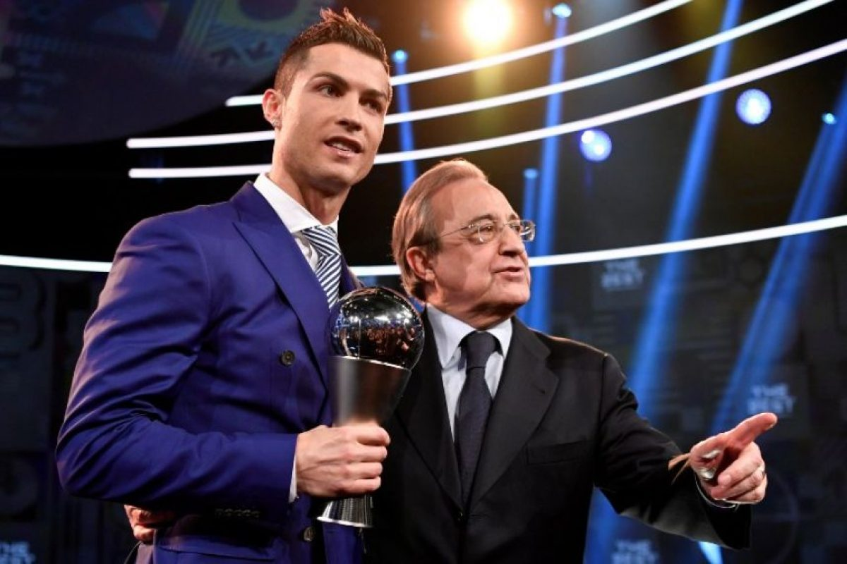 Dentro de la cancha, Ronaldo tuvo un gran 2016 por el que recibió el premio. Foto:AFP