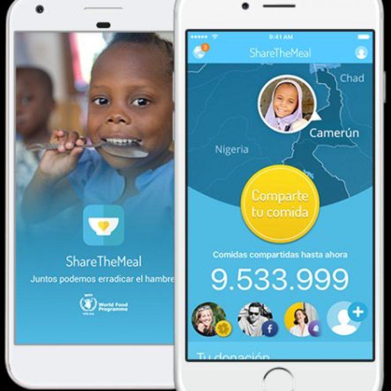 Sharethemeal app Foto:Sharethemeal.org