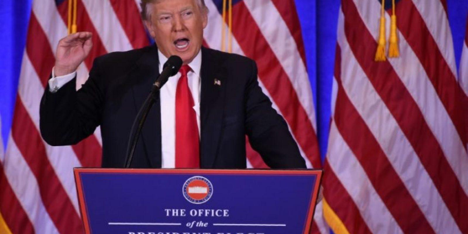 El presidente electo estadounidense, Donald Trump, en rueda de prensa el 11 de enero de 2017 en Nueva York Foto:Don Emmert/afp.com