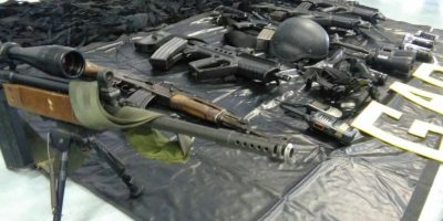 Las armas. Foto:PNC