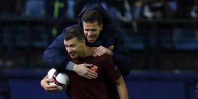 La Roma le pega duro al Villarreal por la Europa League