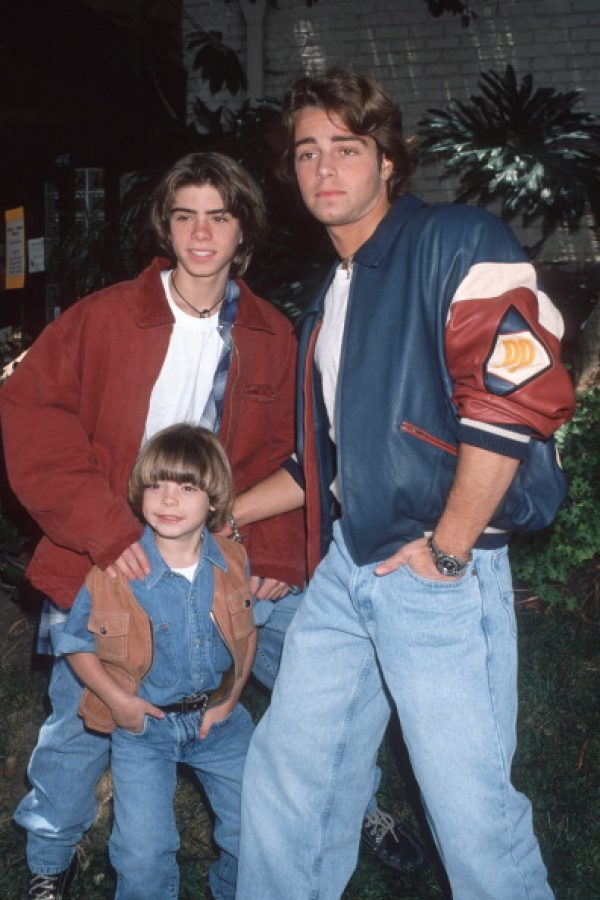 Matthew Lawrence, Joey Lawrence y Andrew Lawrence. Imagen Por: Getty Images