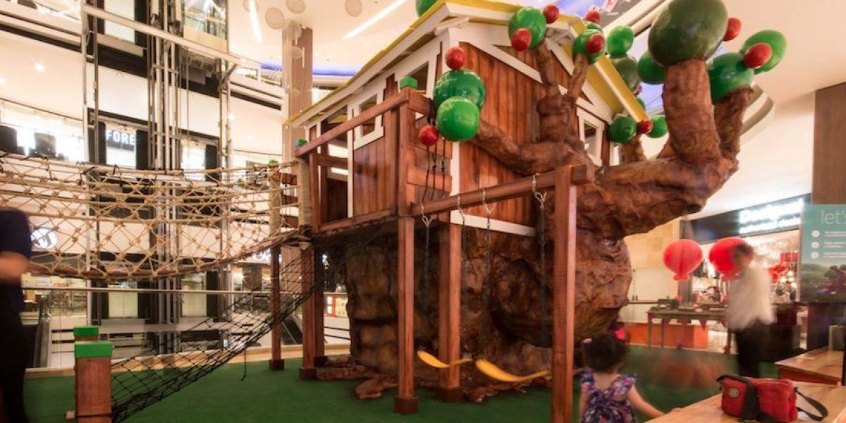 oakland mall inaugura esta amenidad para que los nios jueguen en una casa en el rbol