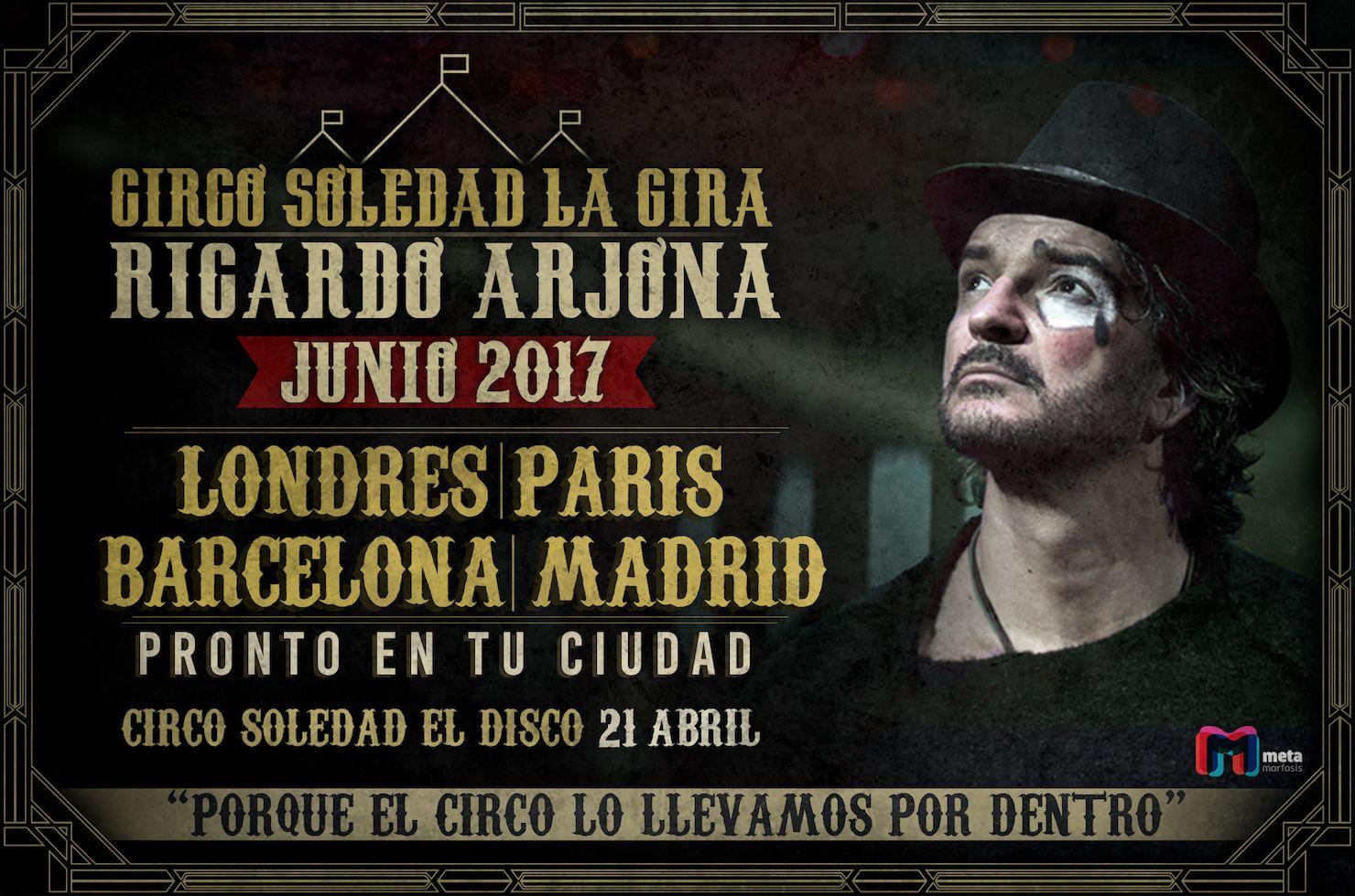 Ricardo Arjona presenta a Nivel Mundial
