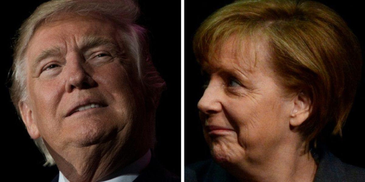 Merkel ante Trump, en su primer cara a cara en un contexto de tensiones