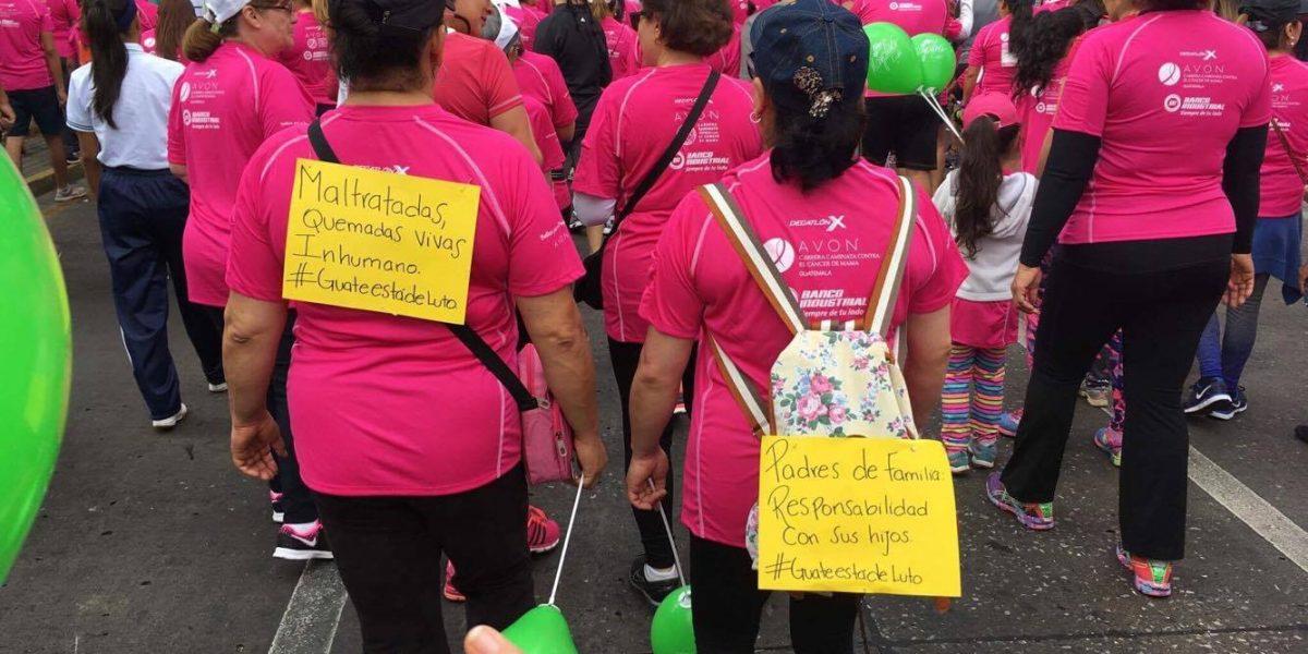 Recuerdan en la Carrera Avon a las víctimas del Hogar Seguro Virgen de la Asunción
