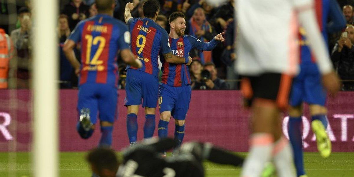 El Barcelona derrota al Valencia con doblete de Messi