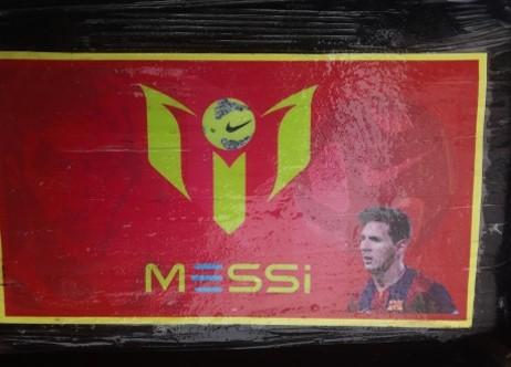 Confiscan droga con imagen de Messi