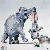 """imagenes-peliculas-disney. Imagen Por: Boceto para """"Dumbo"""" de 1941. Foto: Taschen/Disney"""