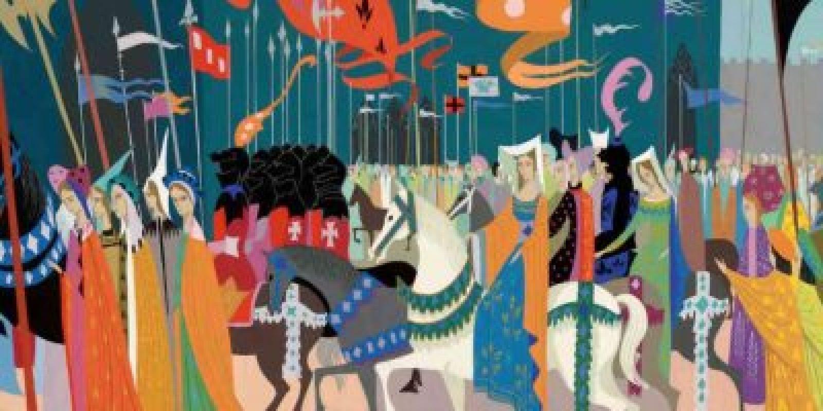 """imagenes-peliculas-disney. Imagen Por: Arte conceptual del nacimiento de la princesa Aurora en """"La Bella Durmiente"""" de 1959. Foto: Taschen/Disney"""