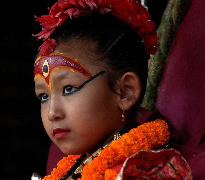 diosa niña foto diosa viviente