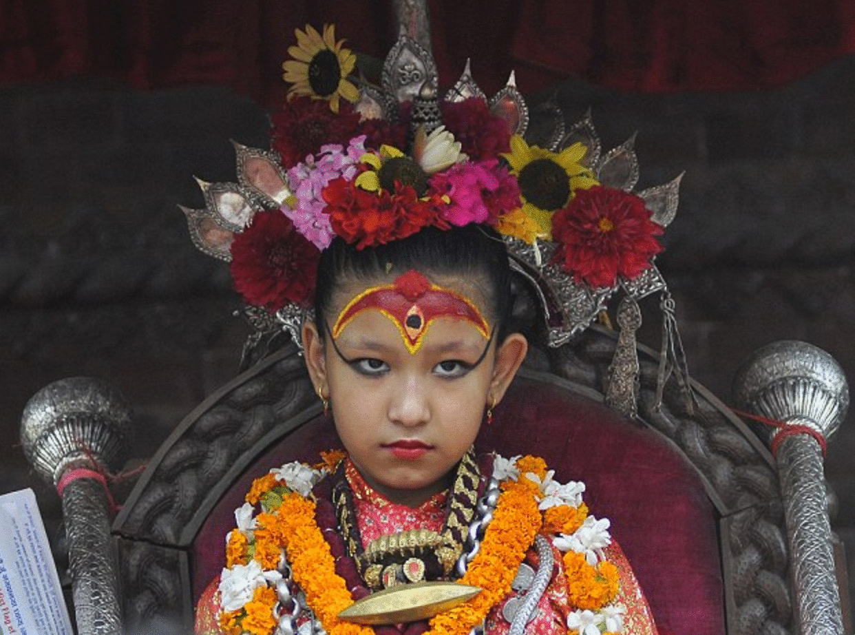 diosa viviente niña foto nepal