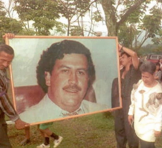 Pablo Escobar entierro