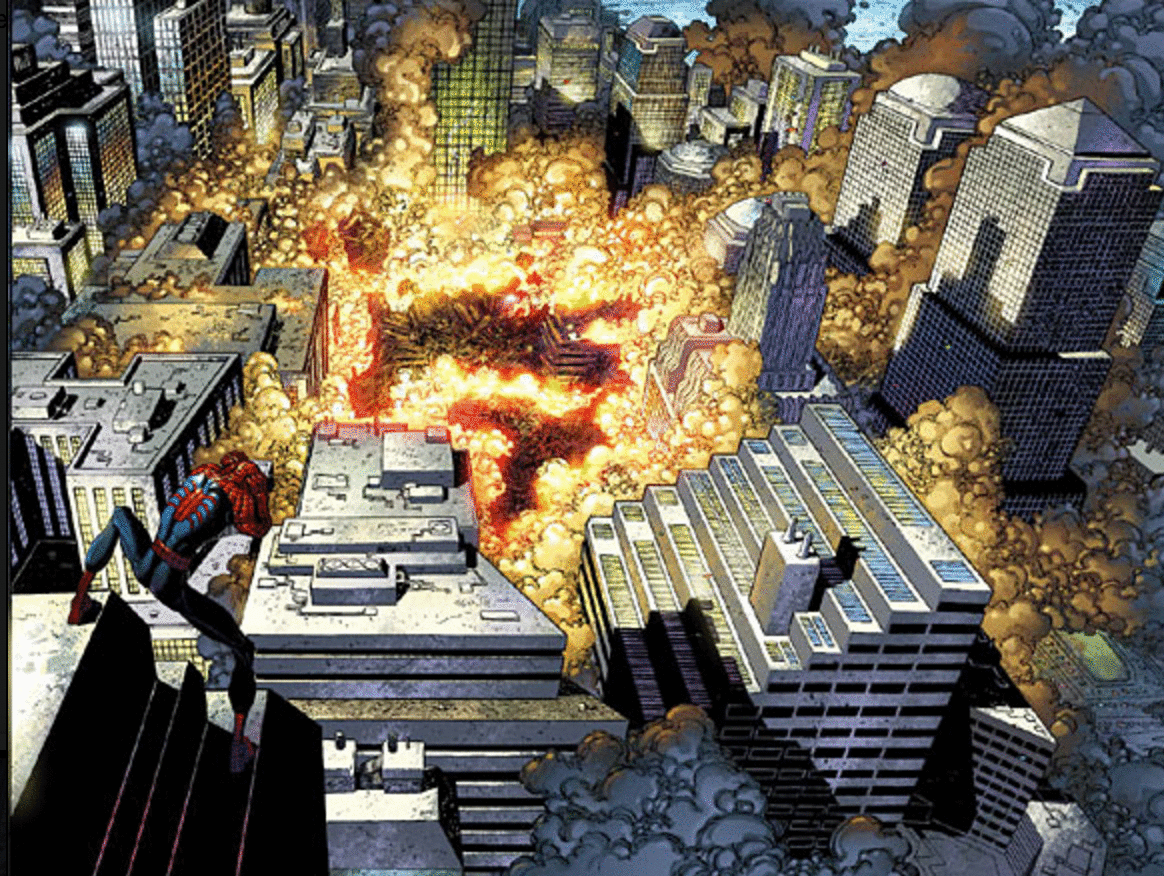 spiderman 9/11 comic foto