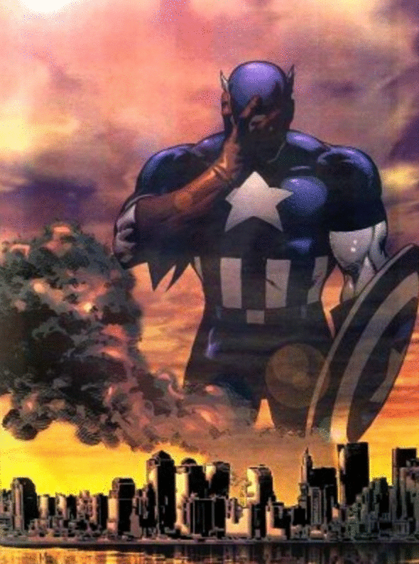capitan américa 9/11 foto comic