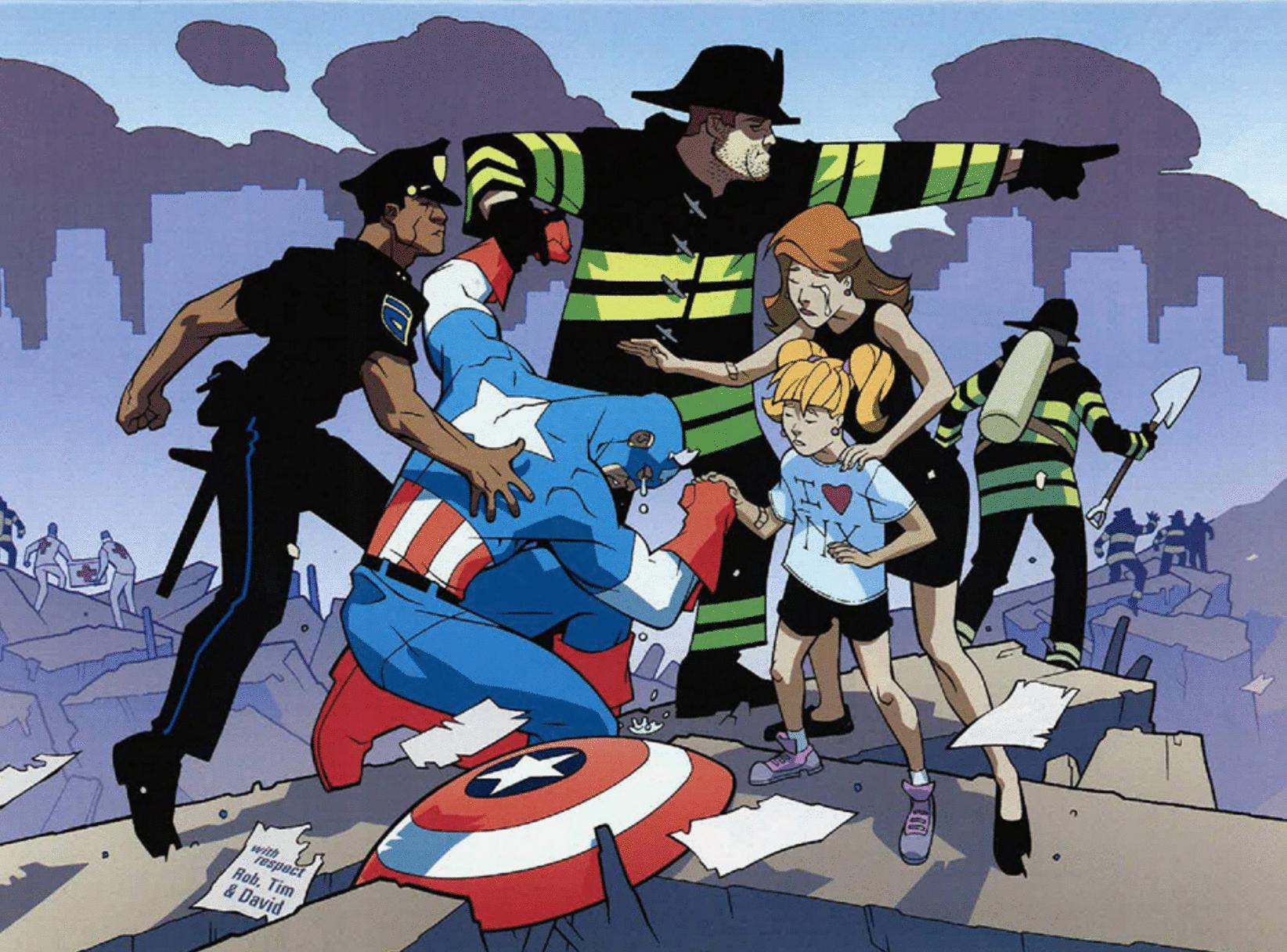 capitán américa 9/11, capitan américa 11 septiembre cómic