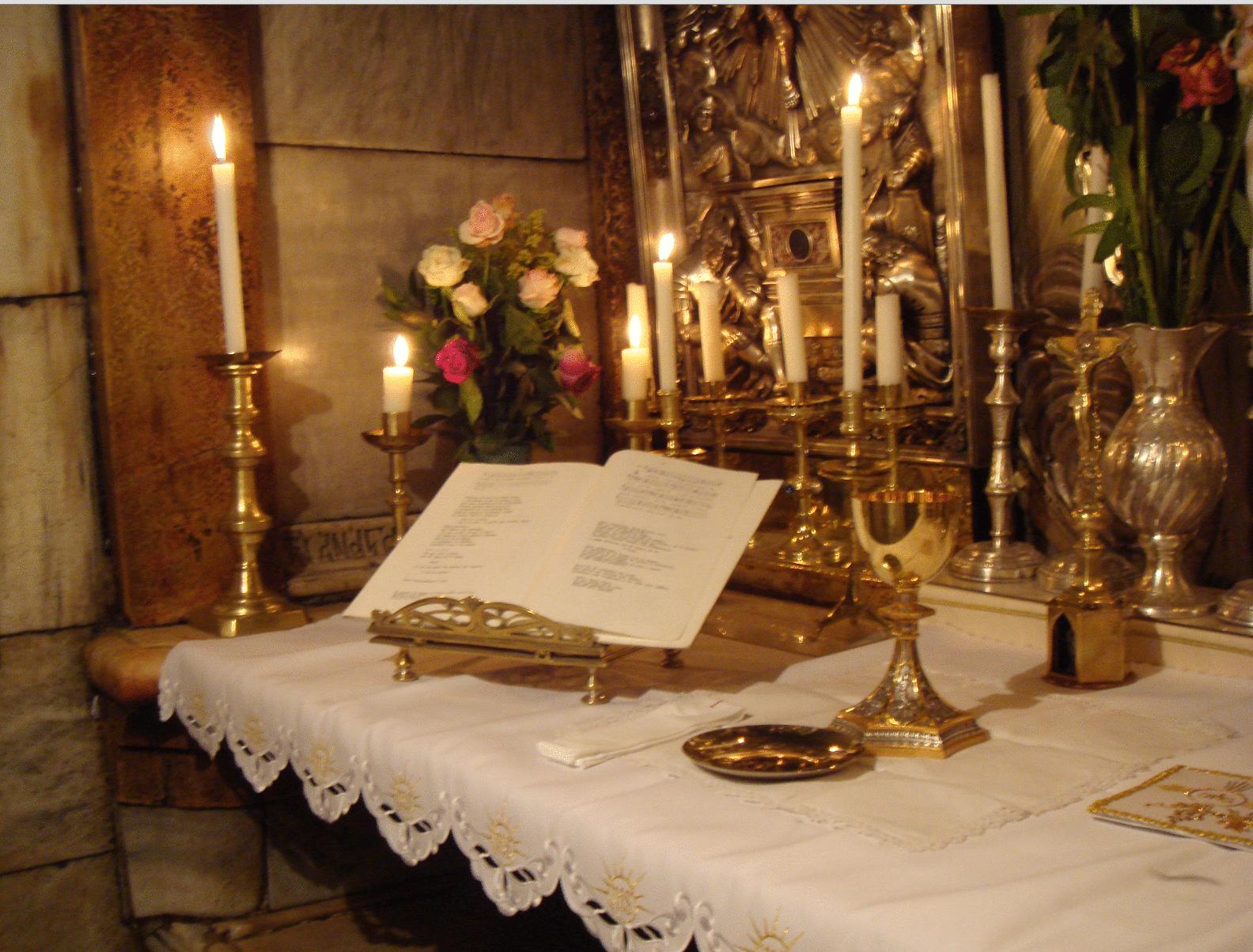 Iglesia Católica altar