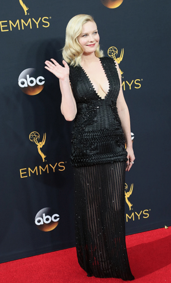 kirsten dunst peor vestidas premios Emmy 2016