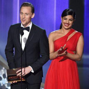 La pareja en la premiación