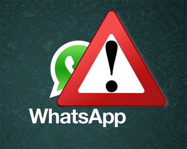 WhatsApp alerta