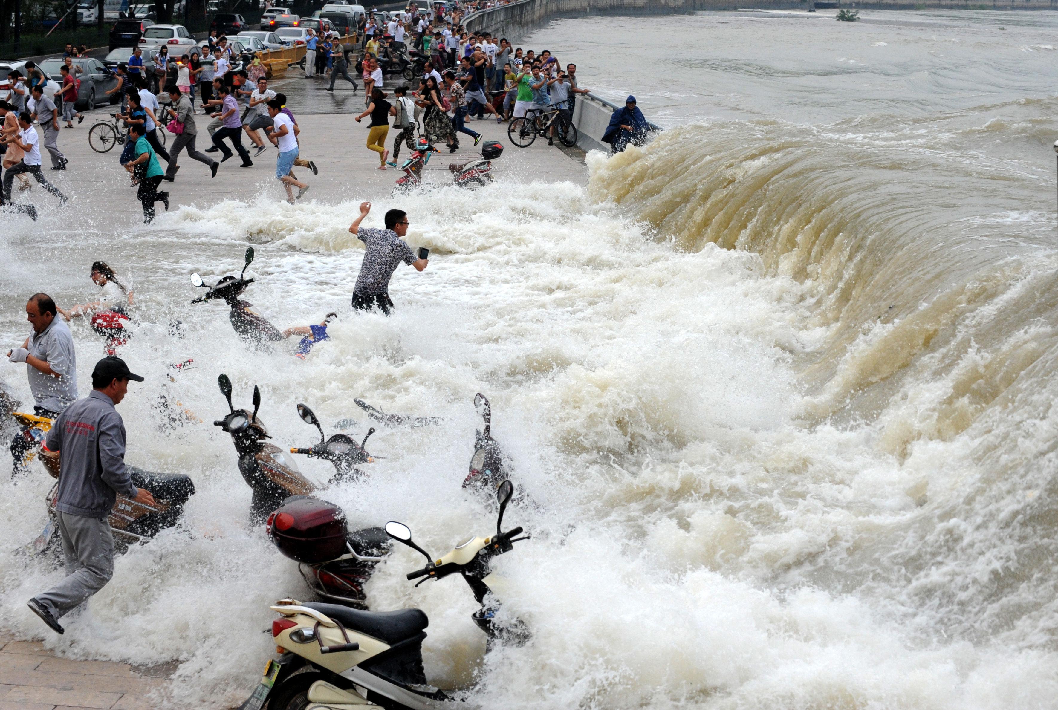 río chino ola