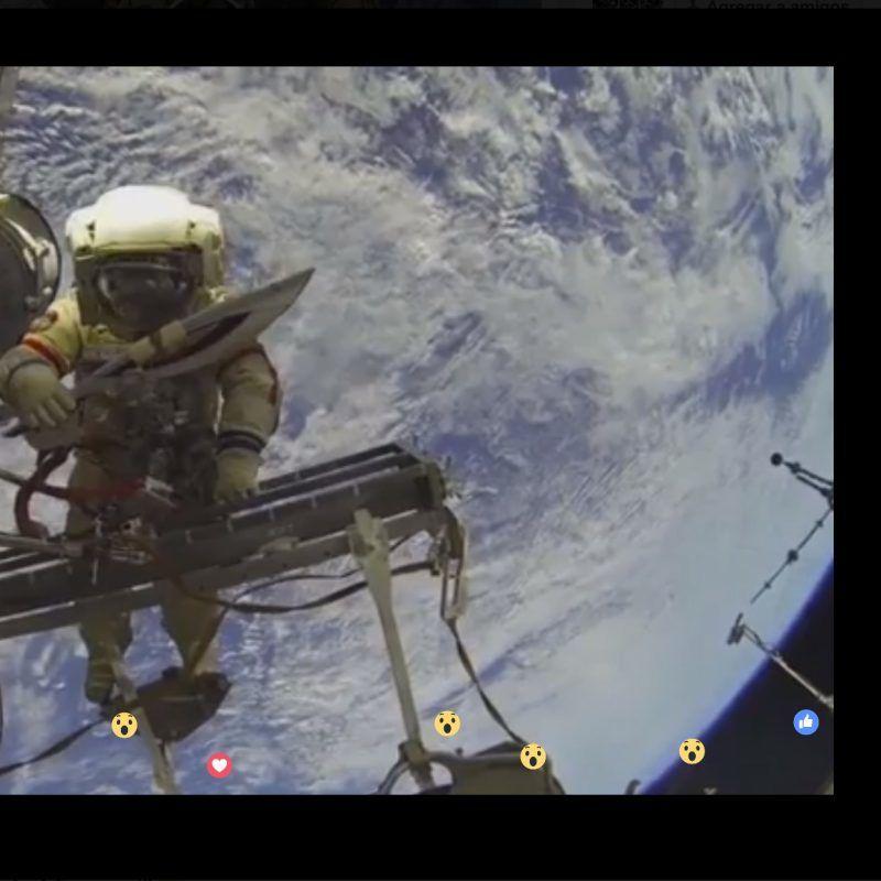 Si vieron esta transmisión en Facebook Live en el espacio, fueron engañados. Imagen Por: Facebook