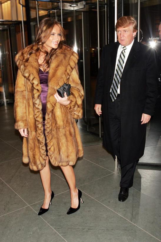 Melania Trump looks