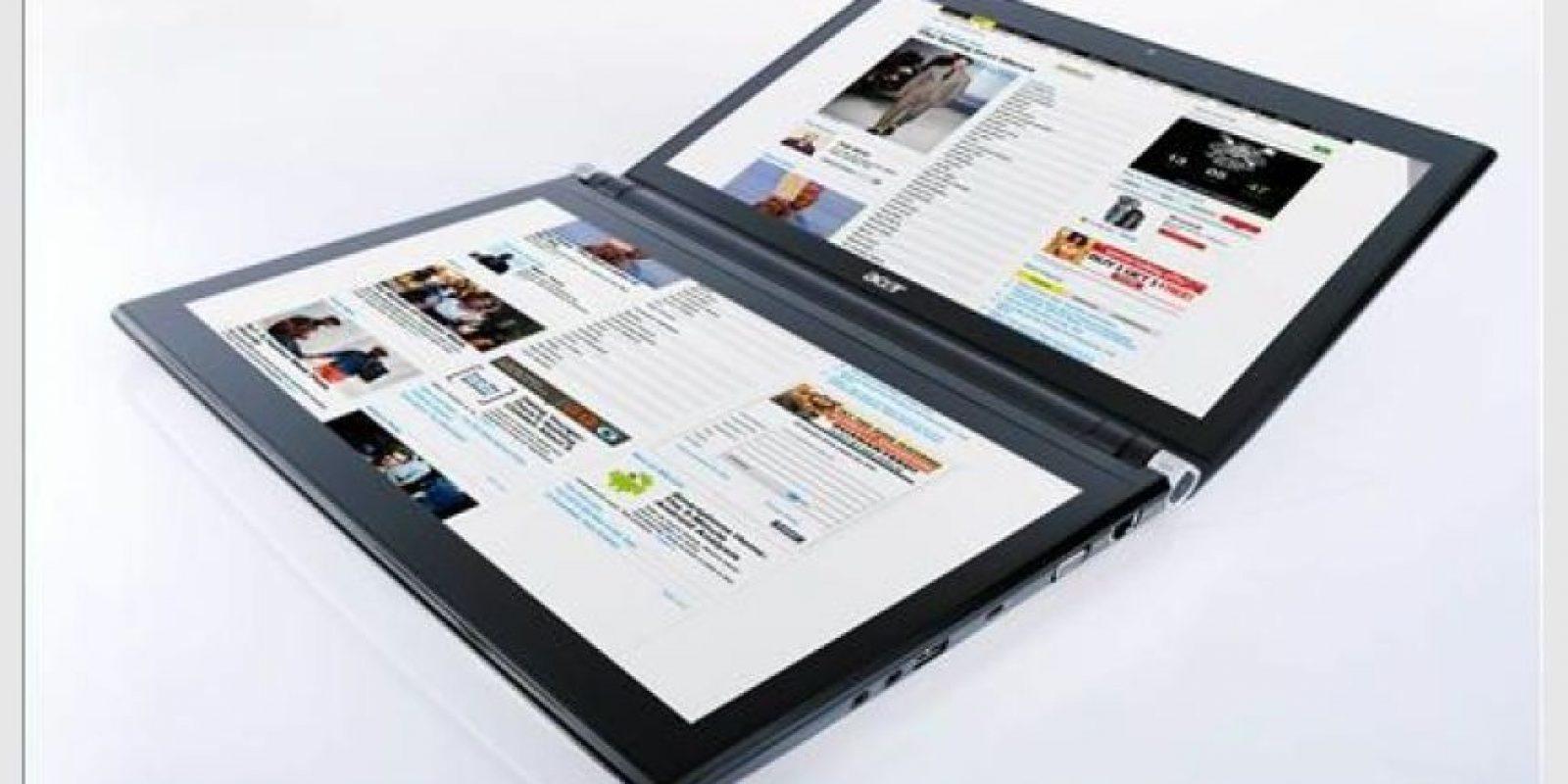 Foto:Estos equipos fueron diseñados en estrecha colaboración con Microsoft. Iconia consiste de dos paneles/pantallas touchscreen de 14″ 720p HD. Corre Windows 7 Premium en lugar de Sistemas operativos para tablets.