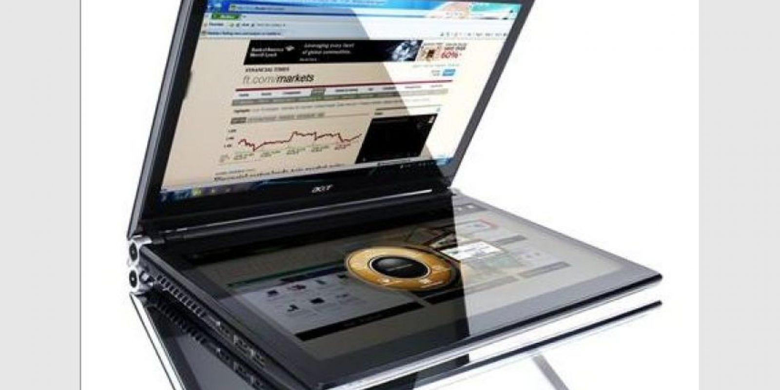 Foto:Acer presenta una nueva serie de equipos laptops con un enfoque muy interesante: se liberan de accesorios de entrada convencionales como teclado y touchpad y usa doble pantalla touch.