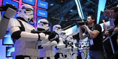 Mala suerte para Darth Vader y sus clones, que presentaron la liberación de la saga completa de Star Wars en Blu-ray Foto:AP