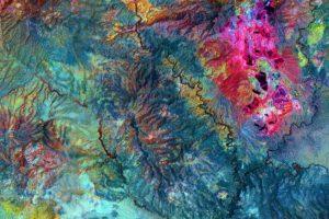 Mina de cobre abierta Morenci, en Arizona, Estados Unidos Foto:NASA. Imagen Por: