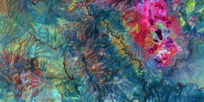 Mina de cobre abierta Morenci, en Arizona, Estados Unidos Foto:NASA