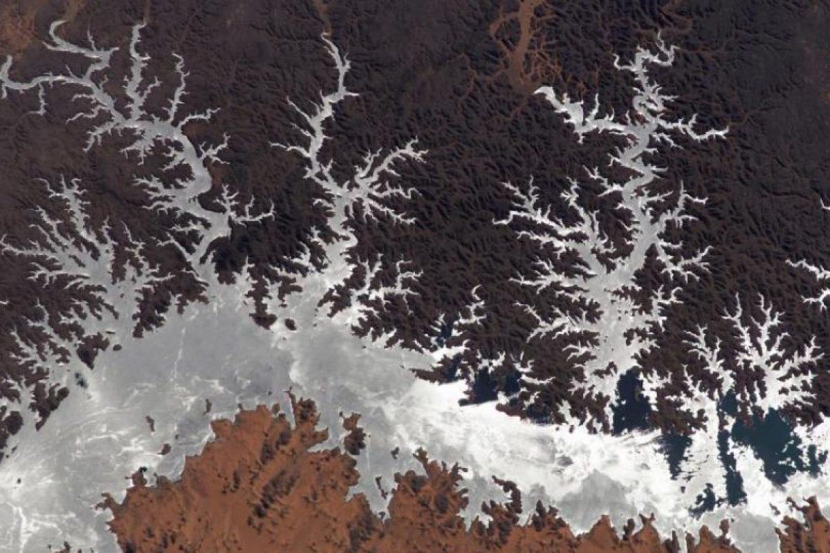 Lago Nasser, Egipto, fotografiado en 2005 por la Estación Espacial Internacional Foto:NASA. Imagen Por: