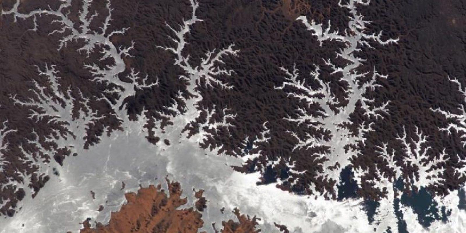 Lago Nasser, Egipto, fotografiado en 2005 por la Estación Espacial Internacional Foto:NASA
