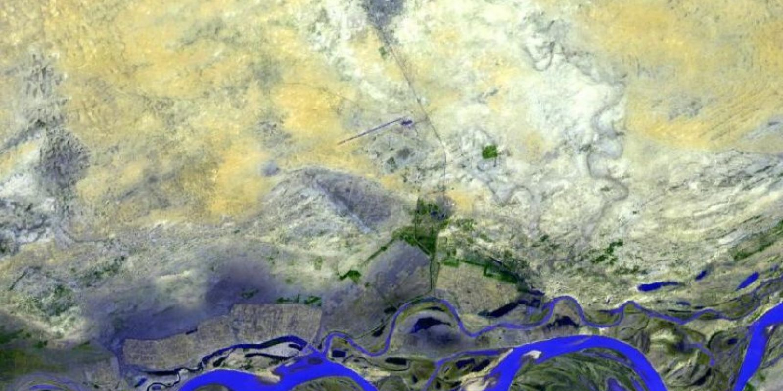 Timbuktu, Mali, al oeste de África Foto:NASA