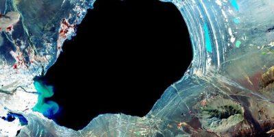 Lago en Tíbet Foto:NASA