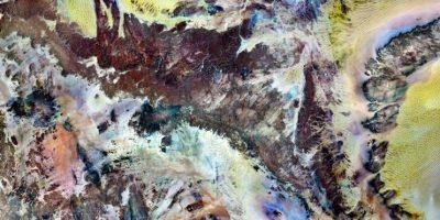 Parque Nacional Tassili n'Ajjer, en el desierto del Sahara. Imagen desde el satélite Landsat 7 en 2000 Foto:NASA