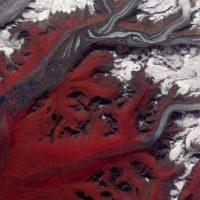 Glaciar en Susitna, Alaska (2009) Foto:NASA
