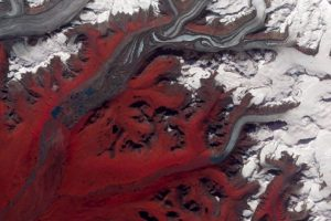 Glaciar en Susitna, Alaska (2009) Foto:NASA. Imagen Por: