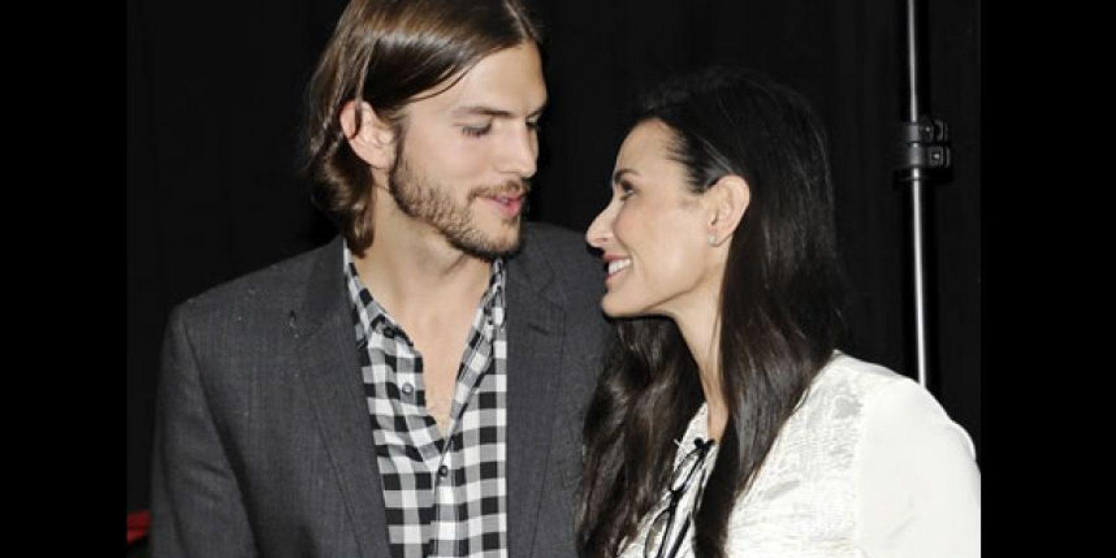Demi Moore y Ashton Kutcher Foto:AP