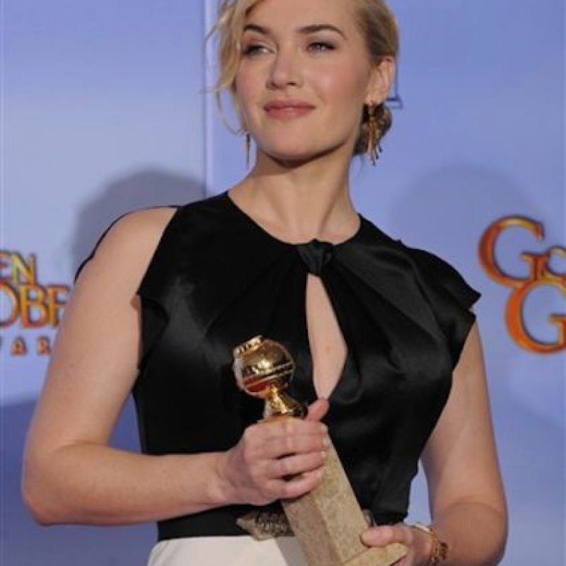 "MEJOR ACTRIZ EN MINISERIE O PELICULA PARA TV: Kate Winslet ""Carnage"". Foto:AP"