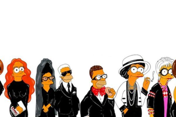 0953b07f8308f Los íconos de la moda a la Simpson