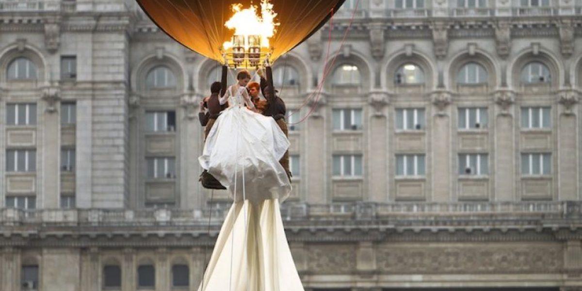 imponen récord por el vestido de novia con la cola más larga del