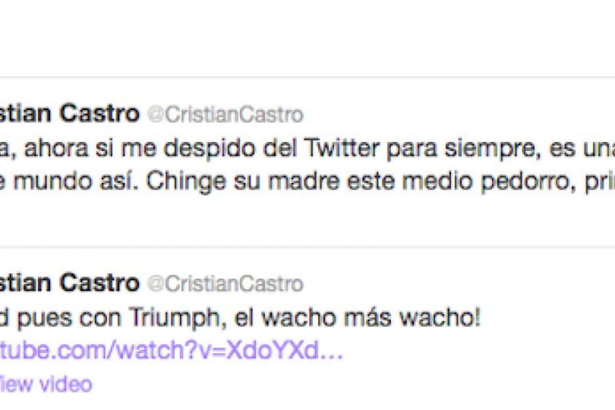 Hasta el momento la cuenta del cantante en Twitter sigue activa Foto:Twitter. Imagen Por: