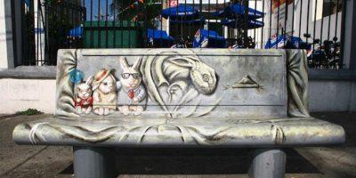 Arte invade las bancas de la Ciudad de México