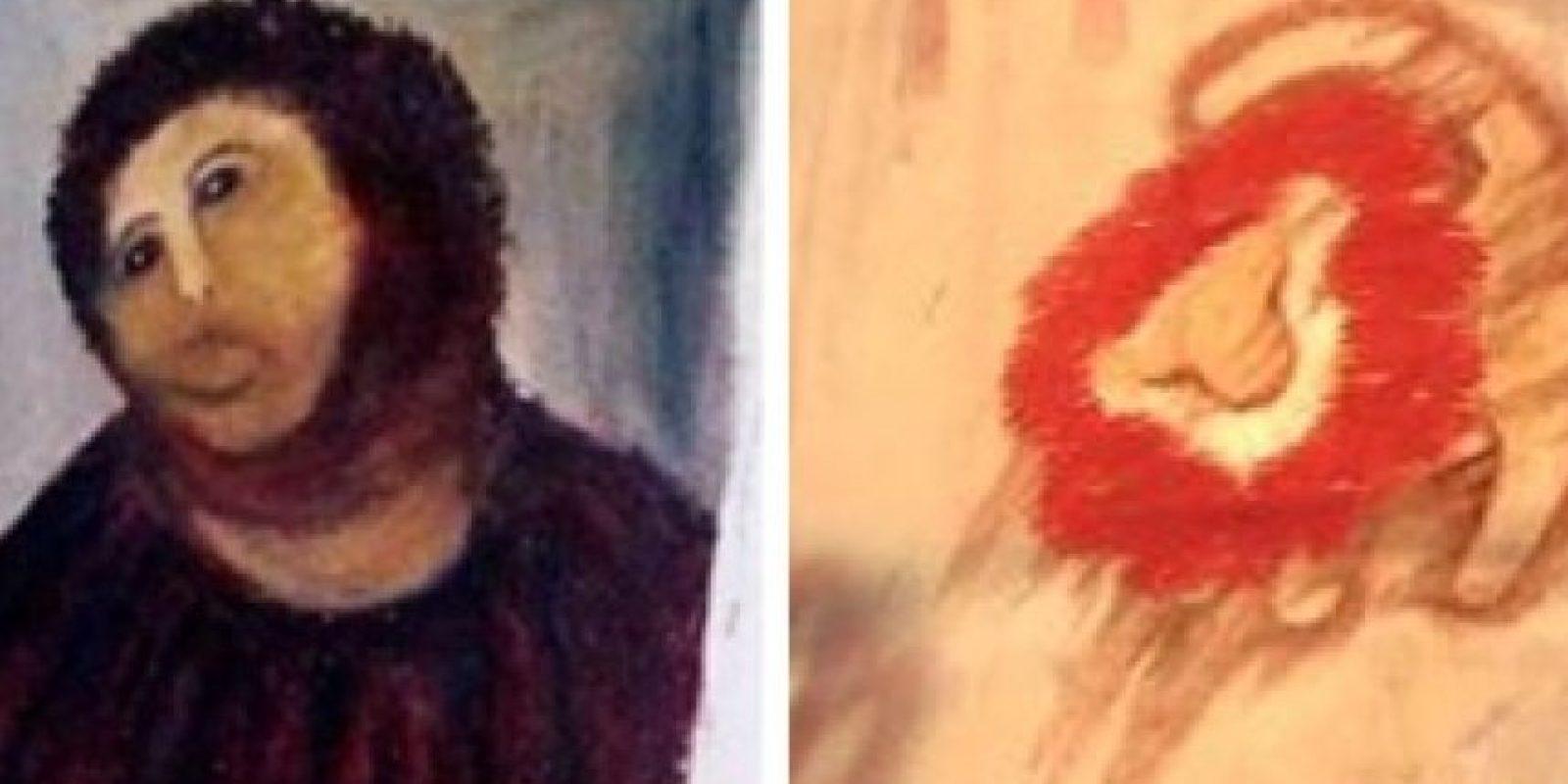 Creo que la restauración del Ecce homo la hizo Rafiki del Rey león y si no juzgad vosotros mismos Foto:Ms.Zombie Ink @IreneSNK