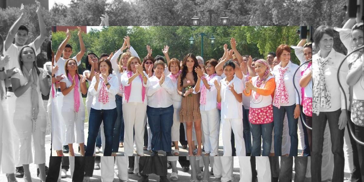 Dulce María apoya la lucha contra el cáncer de mama