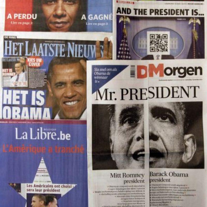 Diarios belgas dan cuenta del triunfo del demócrata.