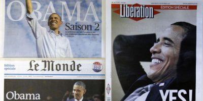 Los periódicos franceses le dieron amplia cobertura a la victoria de Barack Obama