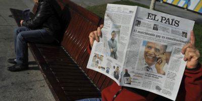El diario El País de España le dedicó gran parte de su portada.